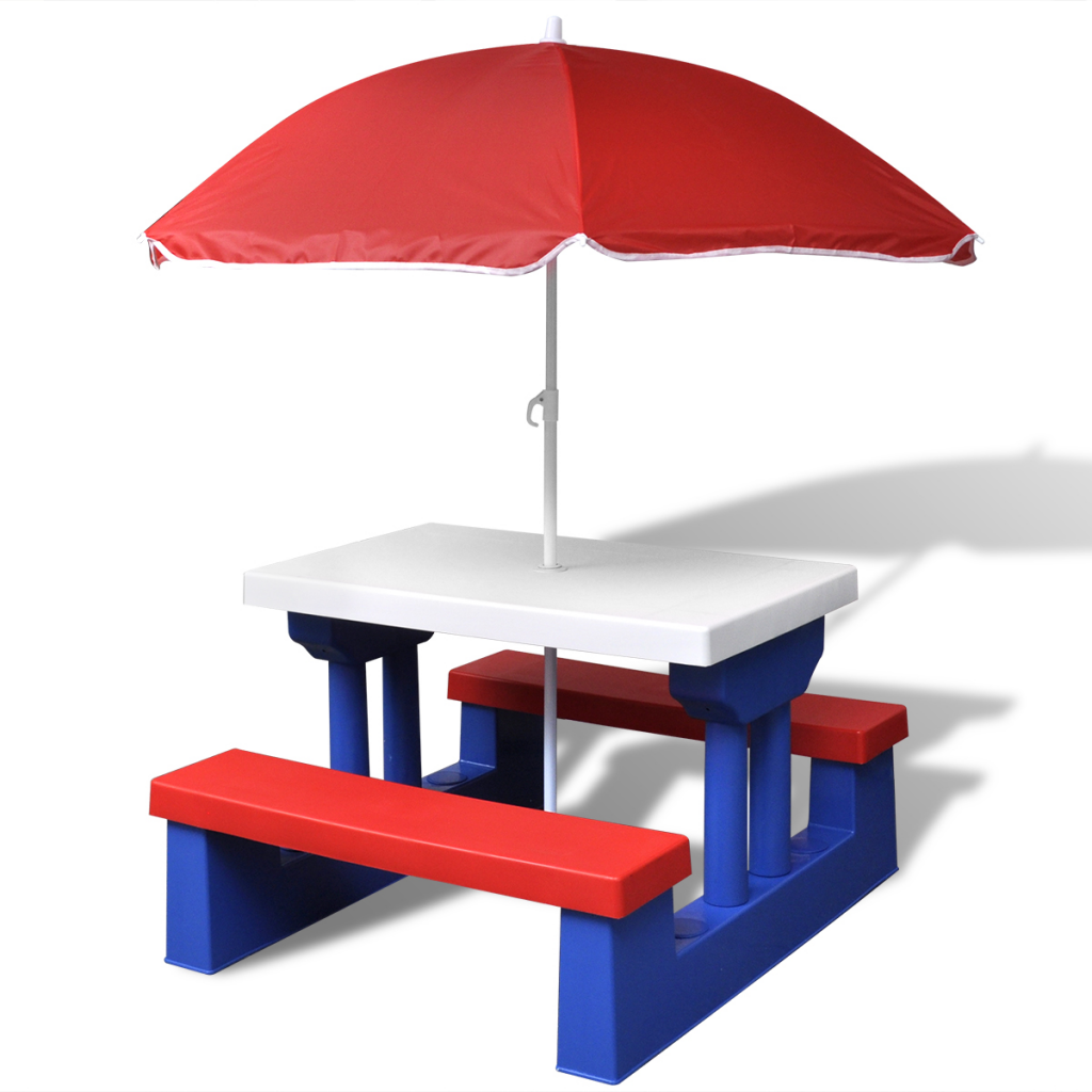 Kids Plastic Picnic Bench