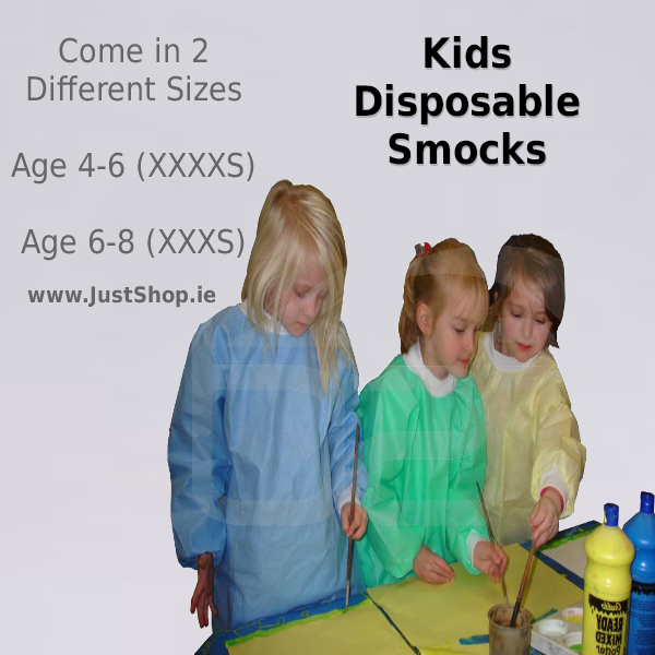 Kids Disposable Smocks (50 Pack)