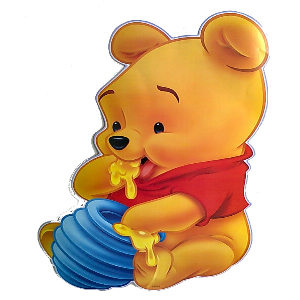 Pooh Bear with Blue Honey Pot