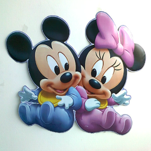 Large Baby Minnie & Mickey Mouse Wall Sticker