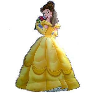 Large Princess Belle Wall Sticker