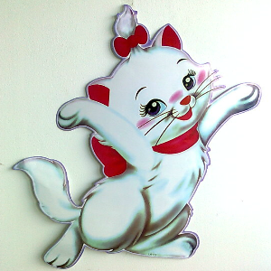 Large Kute Kitten Wall Sticker