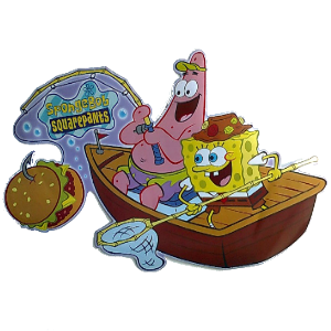 Spongebob & Patrick Fishing Sticker
