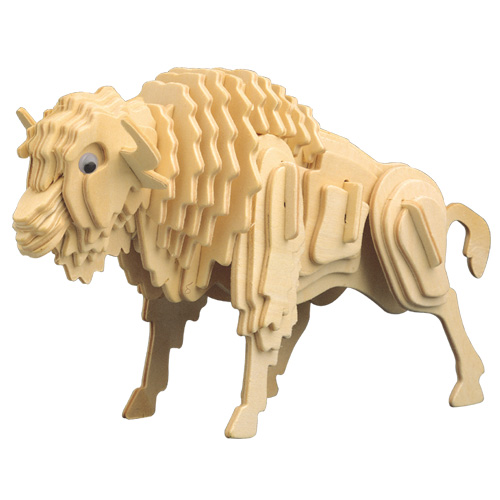 3D Wooden Jigsaw Puzzle (Bull)