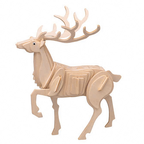 3D Wooden Jigsaw Puzzle (Stag Deer)