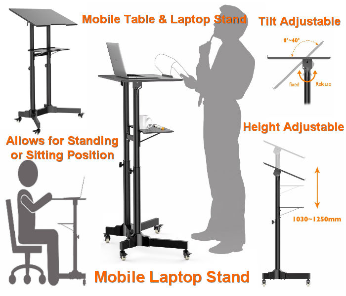 Mobile Table & Laptop Stand