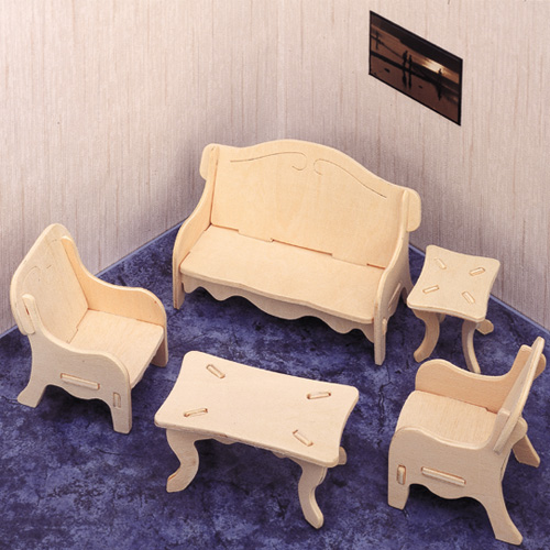 3D Wooden Jigsaw Puzzle (Dolls House/Lounge)
