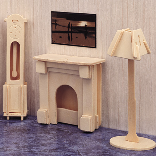 3D Wooden Jigsaw Puzzle (Dolls House/Fireplace)
