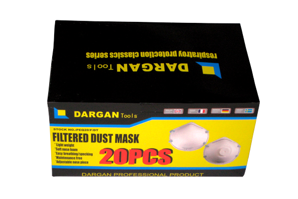 20 Piece Box Filtered Dust Masks - Disposable