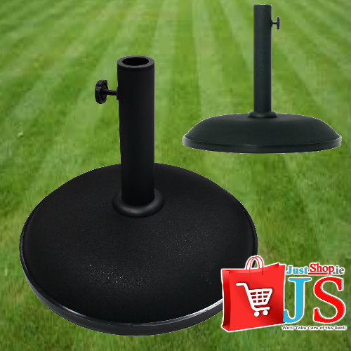 12kg Black Concrete Parasol Base (Matt Finish)