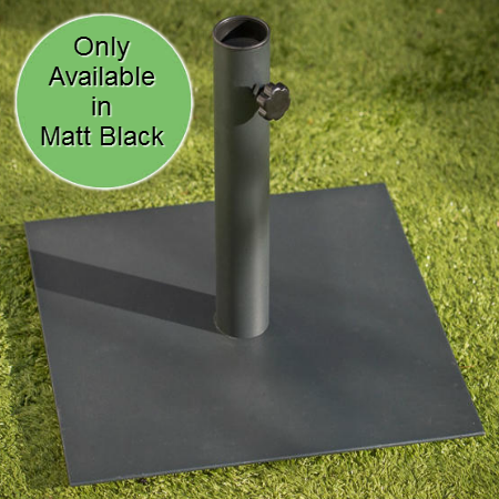 9kg Square Parasol Base - Matt Black