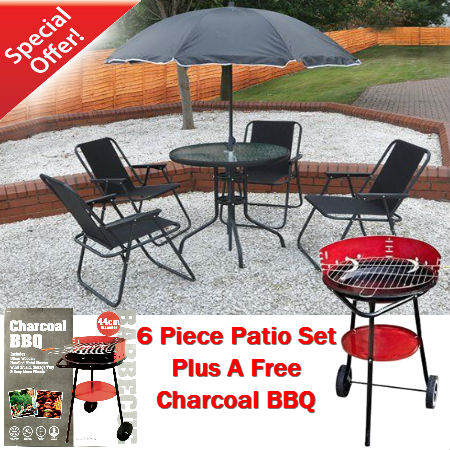 6 Piece Stee l& Textilene Patio Set