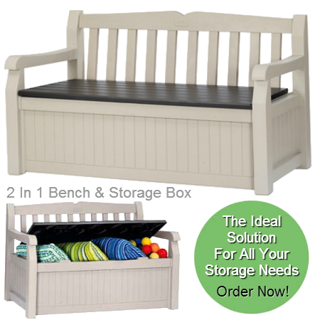 All In One Combi Garden Bench & Storage Box