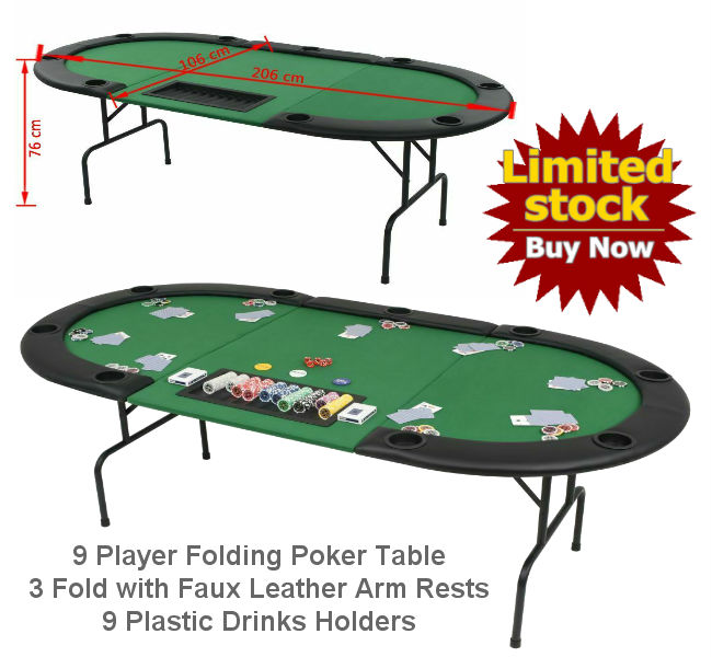 9 Player Folding Poker Table