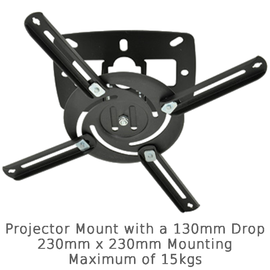 Universal Projector Ceiling Mount - 130cm Drop