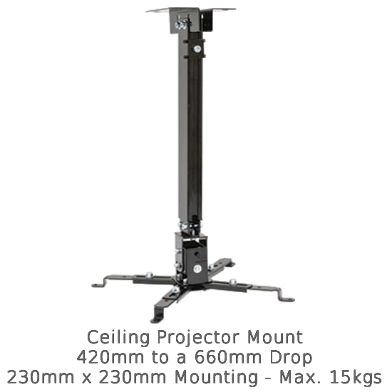 Universal Projector Mount with Extension Pole