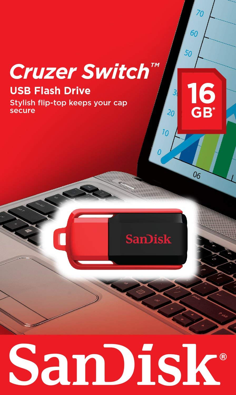 SanDisk 4GB Cruzer Switch USB Flash Drive