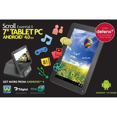 "S/O Scroll Essential II 7"" Android 4.0 Capacitive Tablet"