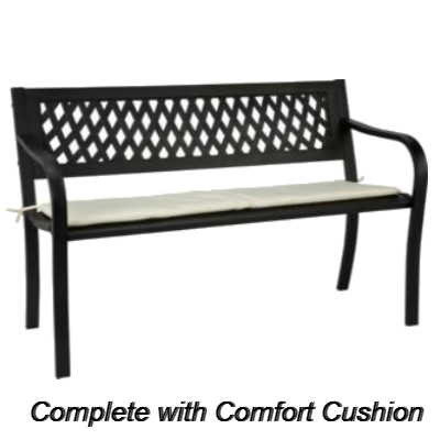 Steel Bench with Comfort Cushion - (JS)