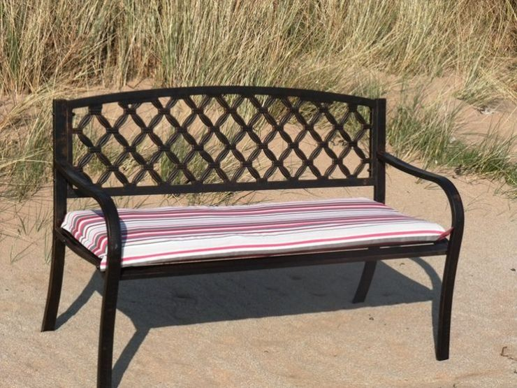 Steel Park Bench with 4ft Comfort Cushion