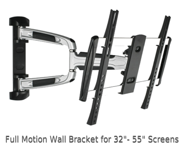 "Full Motion TV Wall Mounts for 32"" to 55"" Screens"