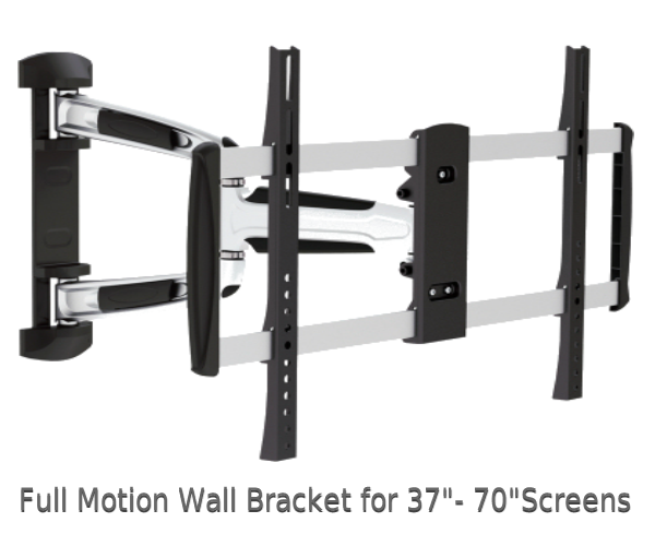 "Full Motion TV Wall Mounts for 37"" to 70"" Screens"