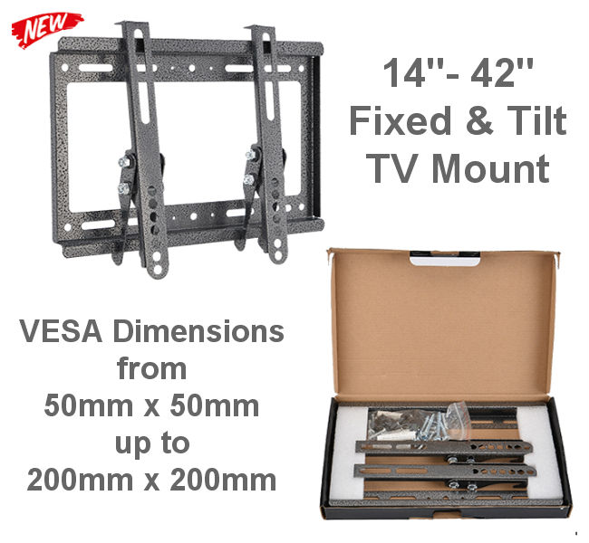 "14""-42"" Flat & Tilting TV Bracket"