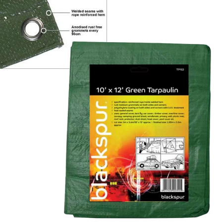 Tarpaulin Cover (10ft X 12ft) Green