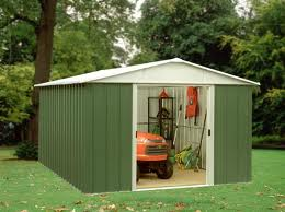 The Geyz Apex Metal Garden Shed (8ft X 7ft)