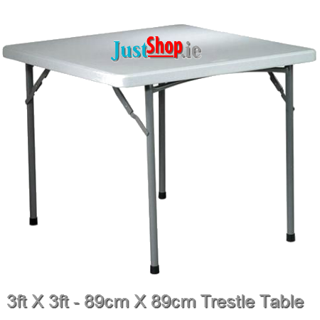 3ft X 3ft Square Trestle Tables