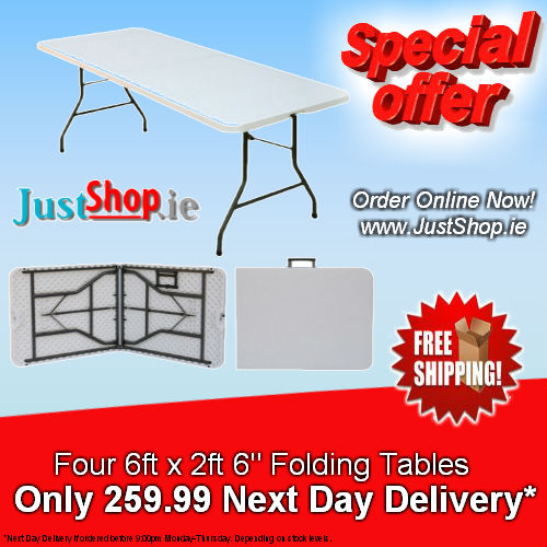Special Offer! Buy 4 X 6ft Folding Tables
