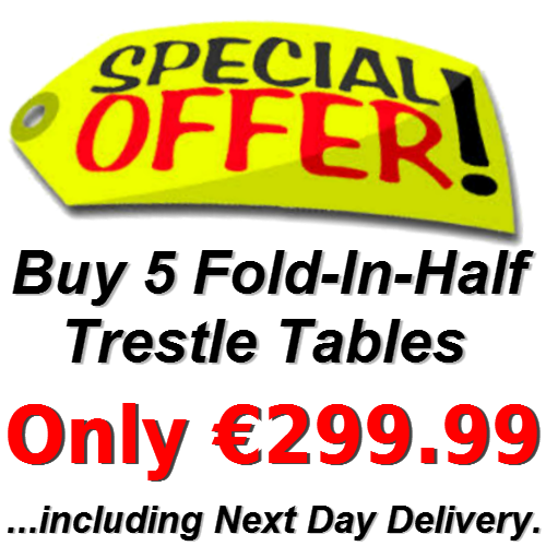 Special Offer! Buy 5 X 6ft Fold-In-Half Trestle Tables