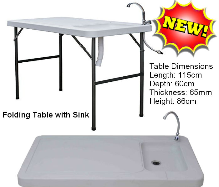 Folding Table with Sink