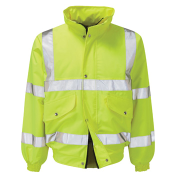 Valiant High Vis Waterproof Bomber Jacket