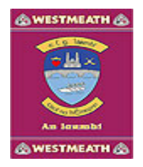Official G.A.A County Branded Rugs - Westmeath