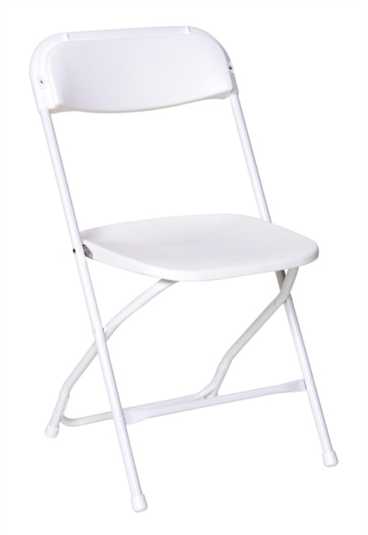 Stacking Chairs - White - 6 Chairs:
