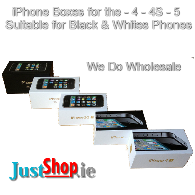 Brand New iPhone Boxes - 4, 4S, 5 (Black & White)