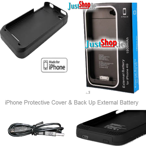 iPhone External Backup Battery Charger & Protective Case