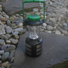 9 Led's Lantern with Compass